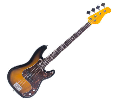 Bass guitar, isolated object