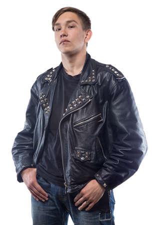Portrait of daring teenage boy