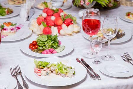 wedding feast: Banquet - tablewear and celebratory meal