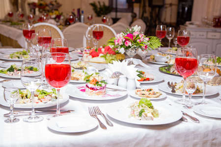 Photo of banquet - tablewear and meal