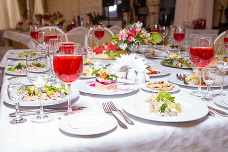 Banquet event - tablewear and meal