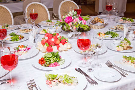 Photo of banquet - tablewear and celebratory meal