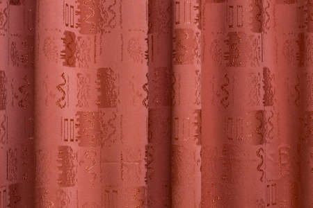 Texture of red curtains