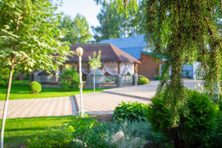 Image of the beautiful veranda during summer