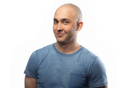 Photo of the adult artful bald man