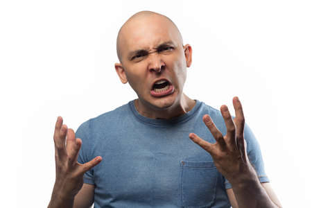 Photo of the adult outrage bald man
