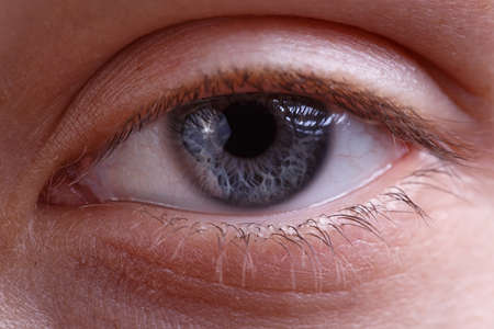 Image of young womans eye without make-up