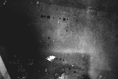 Image of old scratched surface texture in black and white colors