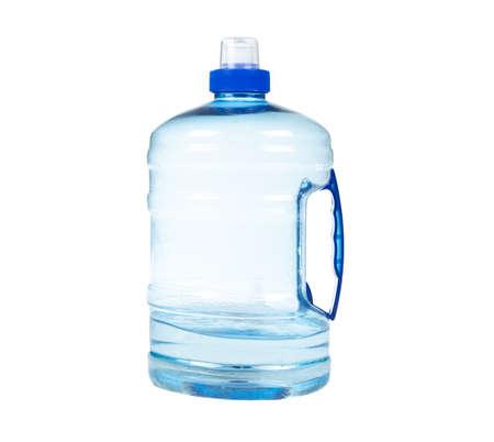 Isolated shot of blue plastic bottle on white background Reklamní fotografie