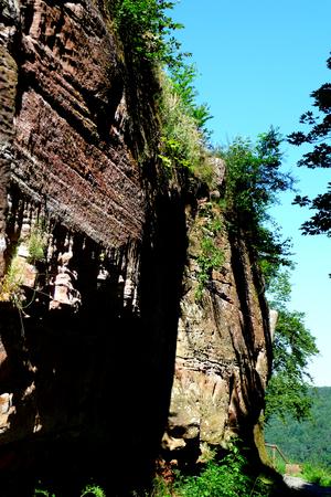 rockwall: Rockwall from sandstone in Rhineland-Palatinate, Germany