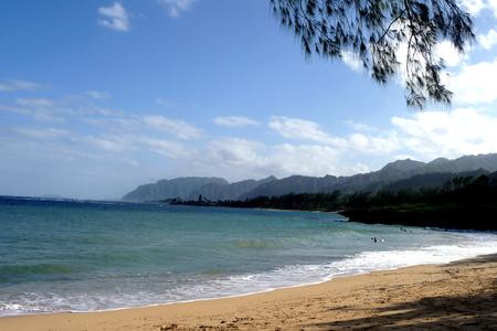 find us: Beach of Oahu, Hawaii