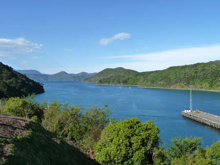 secluded bay of New Zealands South Standard-Bild