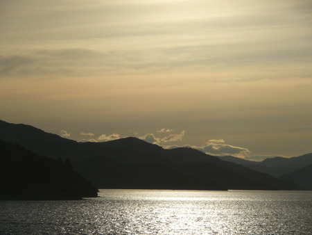 downunder: Sunset in the Marlborough Sounds, New Zealand