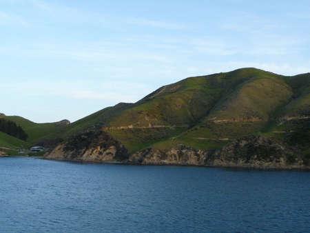 Coast and landscape of New Zealands South Island Standard-Bild