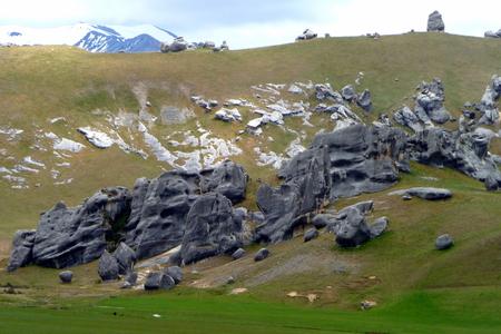 Southern Alps, New Zealand Standard-Bild