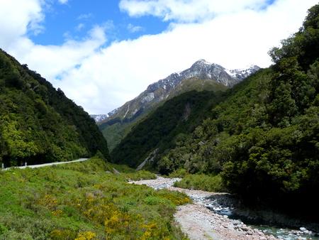 Arthur's Pass New Zealand Standard-Bild