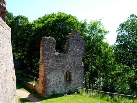 ruin: castle ruin in palatinate