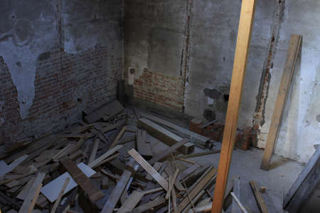 dirty room: old building Stock Photo