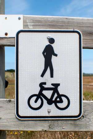 shared sharing: Shared walkway sign