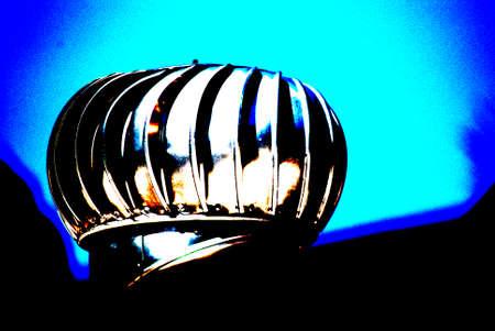 perinola: Perinola en la parte superior de una casa posterized Foto de archivo