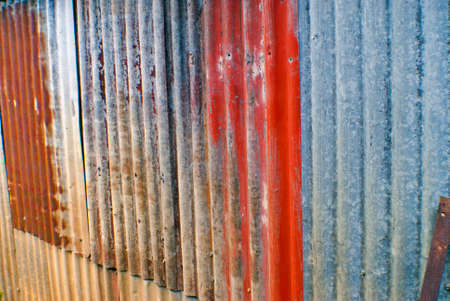 rusted: rusted corrugated iron background