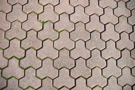 patterned paver background photo