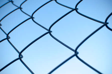 mesh fence: wire mesh fence Stock Photo