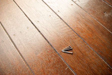 decking: nails on timber decking