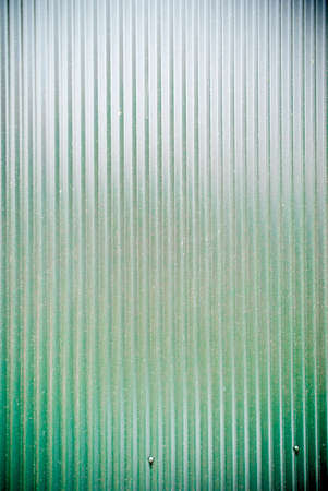 corrugated iron: green coloured corrugated iron fence