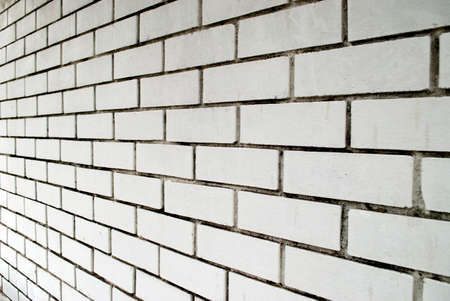 angled: angled white brick wall background Stock Photo