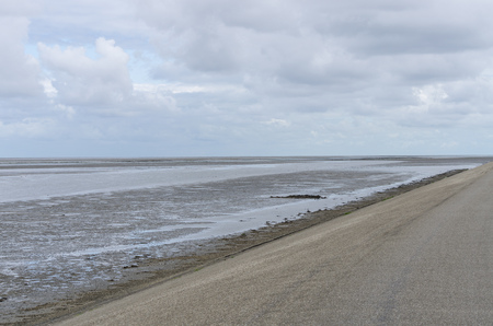 View at the mudflats in Holland Stock Photo
