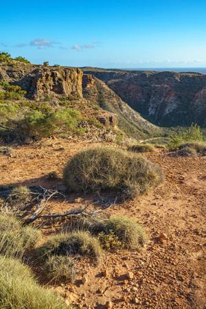 hiking at charles knife canyon near exmouth, western australia