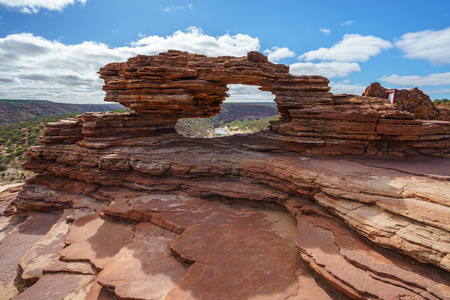natures window in the desert of kalbarri national park, western australia Stok Fotoğraf
