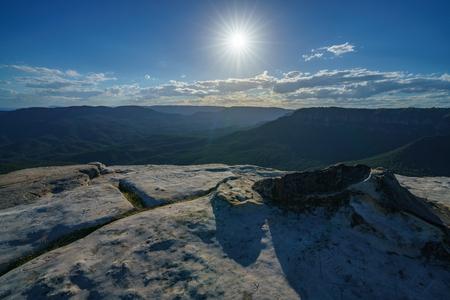 sunset at lincolns rock, blue mountains national park, australia