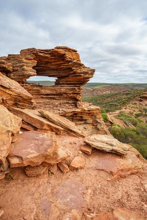natures window in the desert of kalbarri national park, western australia