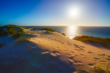sand dunes in the sunset, bills bay, coral bay, coral coast, western australia