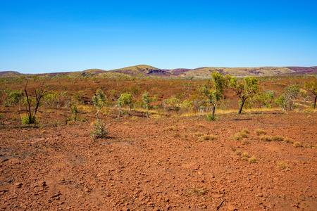 outback in the desert karijini national park, western australia Stock Photo