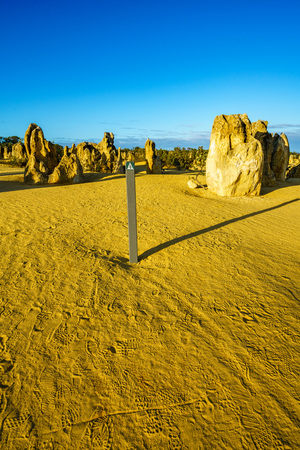 pinnacles desert of nambung national park, western australia 스톡 콘텐츠