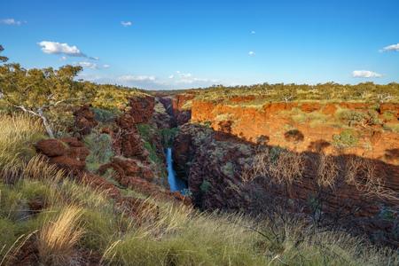 joffre falls in joffre gorge, karijini national park, pilbara, western australia