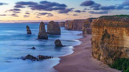 twelve apostles marine national park at sunset,great ocean road at port campbell, victoria, australia Reklamní fotografie - 127367432