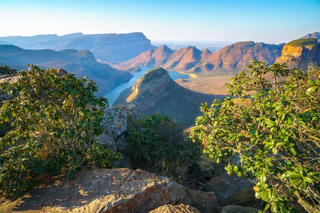 impressive view of three rondavels and the blyde river canyon in south africa Reklamní fotografie - 151170503
