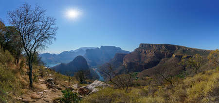 impressive view of three rondavels and the blyde river canyon in south africa Reklamní fotografie - 151170504