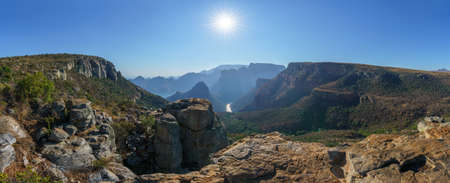 hiking the leopard trail, upper lookout, blyde river canyon in mpumalanga in south africa Reklamní fotografie - 151170516