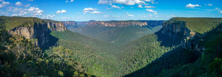 Beautiful view of blue mountains national park