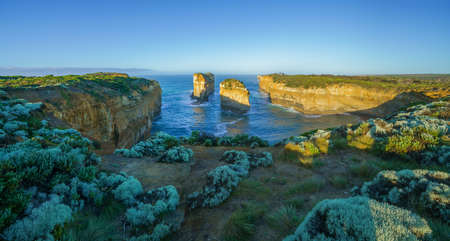 famous tom and eva lookout at sunrise, great ocean road in victoria, australia Reklamní fotografie