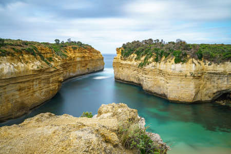 famous loch ard gorge, great ocean road in victoria, australia