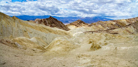 hikink the golden canyon - gower gulch circuit in death valley national park in california in the usa
