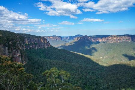 govetts leap lookout, blue mountains national park, australia Stock Photo