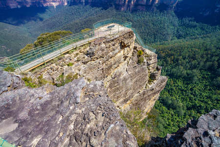 pulpit rock lookout, blue mountains national park, new south wales, australia