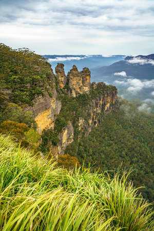 three sisters from echo point in the blue mountains national park, new south wales, australia